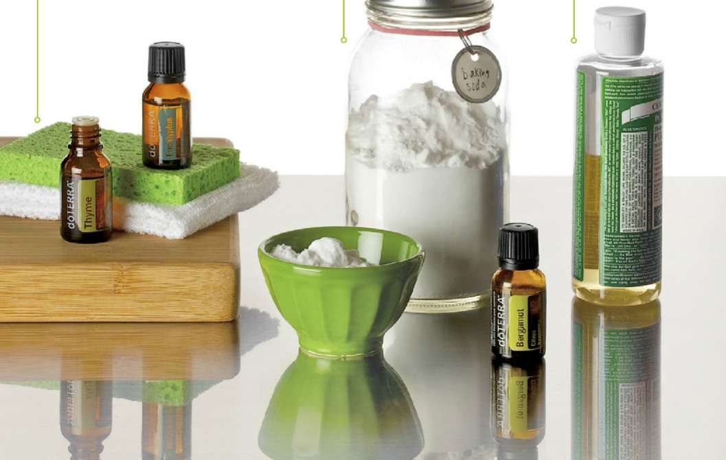 Spring Cleaning with doTERRA essential oils, baking soda, castile soap