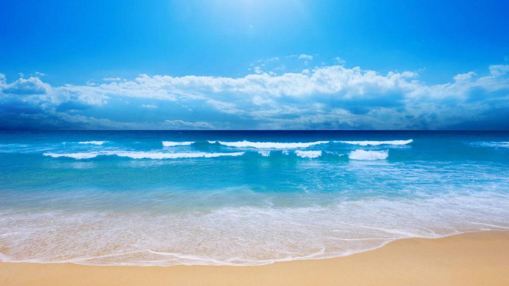 Ocean, Sky, Sand